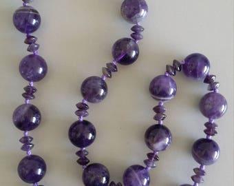 Amethyst Necklace - Gemstone of Detoxification
