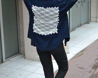 Blue Velvet jacket lace pomponps