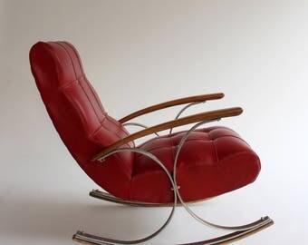 Rocking Armchair Vintage. Mid-Century Modern