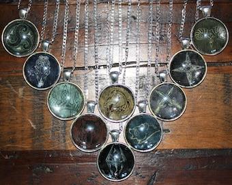 Skyrim Elder Scrolls Hold shield necklace pendants
