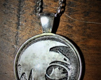 How to Train Your Dragon necklace pendant