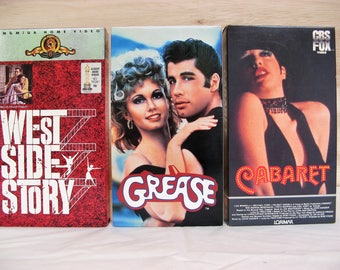 Your Choice of Popular Musicals on VHS Tape: West Side Story / Cabaret / Grease