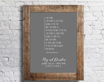 CUSTOMIZED Wedding Sign- Anniversary Gift- Our First Date- GPS Coordinates- Bride and Groom- Special Place & Date- 11x14 Home Decor Poster