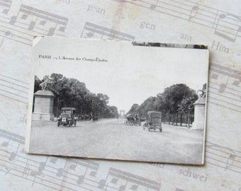 Unwritten postcard, Paris, 1910, Champs-Elysées