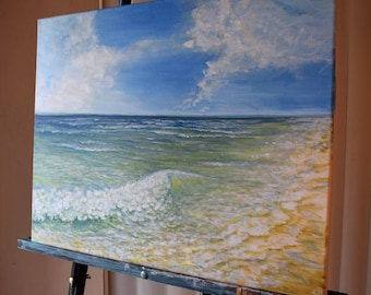 Midday Waves Fine Art ORIGINAL Acrylic Painting on Canvas