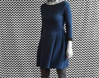 DRESS/DRESS / / blue / / quilted / / organic organic fairtrade