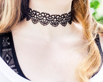 Black|Lace|Choker Necklace Fashion Gifts|for|Girlfriend Gift|for|Women Jewelry Gift under Lace Necklaces Romantic Gift|for|Her Tattoo Choker