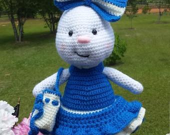 Homemade blue bunny