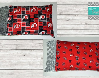 University of Utah, U of U, Swoop/Utes travel pillowcase, toddler pillowcase, pillow included