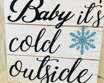 Rustic Winter Sign