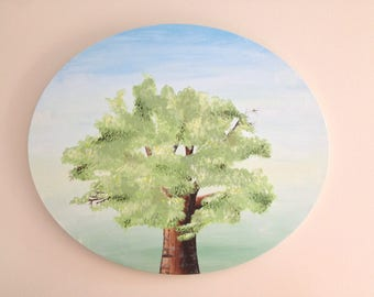Original Acrylic Tree Landscape Painting - SOLD