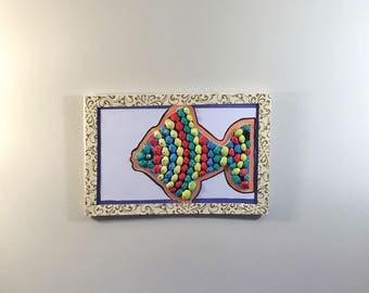 Hand painted seashell Fish
