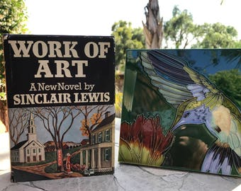1934 Work of Art by Sinclair Lewis - Rare!