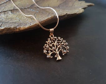 Tree of life necklace, tree of life pendant, gold tree necklace, christmas gift, spiritual jewellery