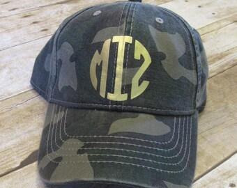 Ladies Monogorammed Hat, Vinyl Monogrammed Hat, Ladies Hat, Women's Hat, Monogrammed Baseball Cap