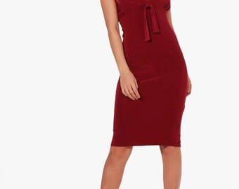 Alice Strappy Plunge Bodycon Dress