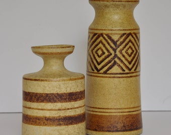 Set of midcentury vases // bohemian decor // pair of ceramic vases