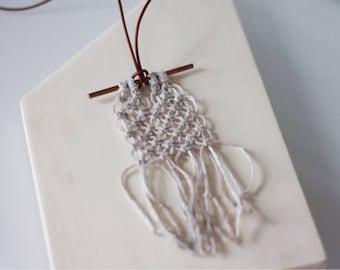Sand Linen & Copper Necklace