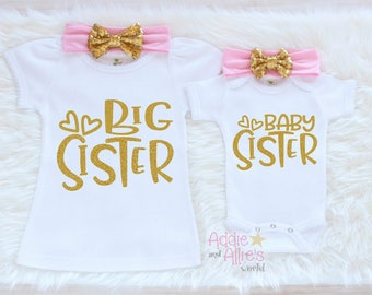 Matching Sibling Outfits, Big Sister Little Sister Outfits, Big Sister Outfit, Little Sister Outfit, Promoted Big Sister Shirt, SS4P