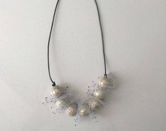 White Tulle Necklace