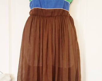 "70's Retro Color Block Dress - ""Jonathan"""