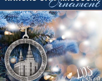 Kansas City LDS Temple Ornament