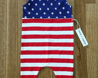 Stars and Stripes Shortie Romper