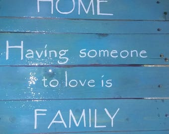 Hand-painted Family Wooden Sign