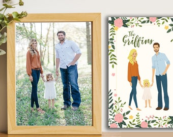 Custom portrait of couple, Custom couple illustration, personalized portrait, anniversary gift, wedding gift, wedding portrait