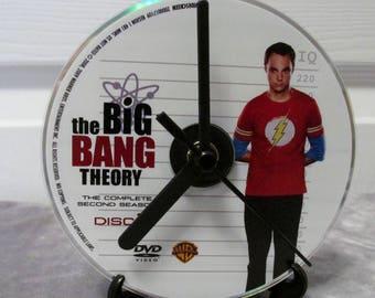 Big Bang Theory DVD Clock Upcycled TV Show - Sheldon