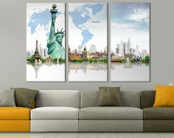 world map wall art map on canvas world map poster world map art
