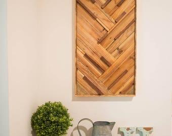 Sapele Mahogany & Reclaimed Cedar Wall Decor