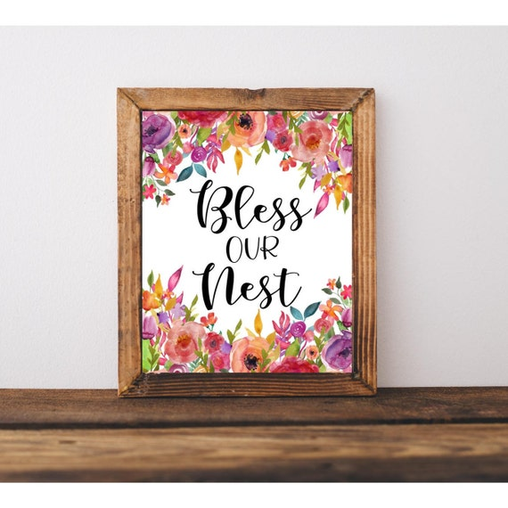 Bless Our Nest Printable Quote Downloadable Print Home