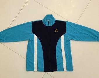 Vintage Star Trek MR Spock made Germany track jacket Vintage blue men Size L