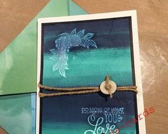 Encouragement Card using Ombre colors