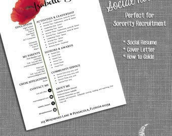 social resume cover letter templates sorority recruitment resume template ms word - Sorority Resume Template
