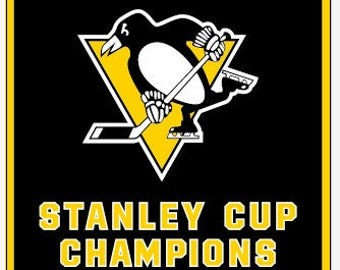 Pittsburgh Penguins Stanley Cup Champions 3'x5' Banner 17'/16'/09'/92'/91'