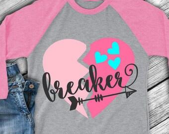Valentines day svg - Heart breaker svg - Valentine's day shirt -  Heart svg - Arrow svg - Love svg - Girls svg files - SVG DXF EPS png pdf