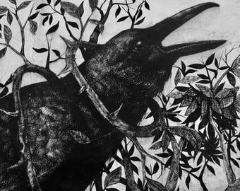 Black Crow Pillow