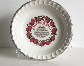 Double R Diner Cherry Pie ceramic recipe pie plate Twin Peaks