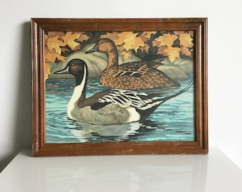 Twin Peaks paint-by-number framed Duck painting