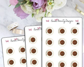 Coffee Cup Planner Stickers, Coffee Date Stickers, Cute Coffee Time Planner Sticker, Coffee Lash, Kawaii Coffee Sticker, Planner Accessories