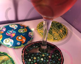 Multi Colored Wine Coasters
