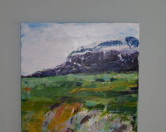Handmade mixed media~Mountain Way