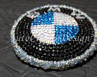 BMW Classic Boot & Bonnet Badges Covered With High Quality Crystals Active
