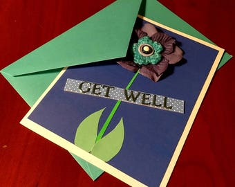 """Handmade """"Get Well"""" Card"""