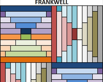 PDF Baby Quilt Pattern...Quick and Easy...Jelly Roll friendly...'FRANKWELL' ... Instant download