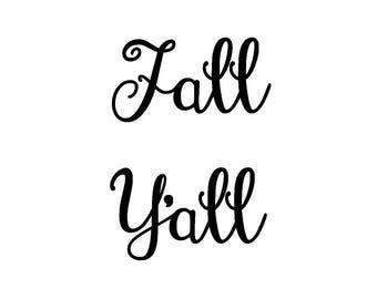 Fall Y'all Digital File