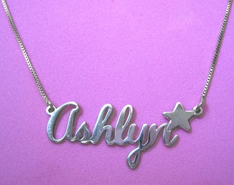 Get name necklace sterling silver / name on a necklace silver / name chain silver / Black Friday sales / Christmas sales / Ashlyn necklace