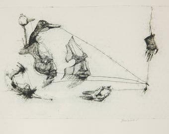 Mute, armless and lonely. Etching. 260x155mm.2014